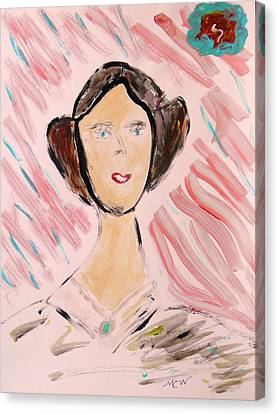 Canvas Print featuring the painting Lady Of The Ages by Mary Carol Williams