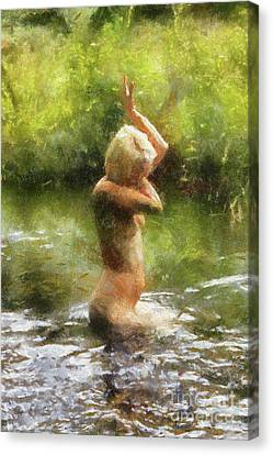 Lady Of The Lake By Sarah Kirk Canvas Print
