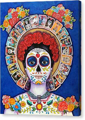 Folkloric Canvas Print - Lady Of The Loteria by Candy Mayer