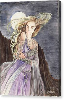 Lady Of The Moon Canvas Print by Morgan Fitzsimons