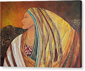 Lady Of The Mountains Canvas Print by Candy Mayer