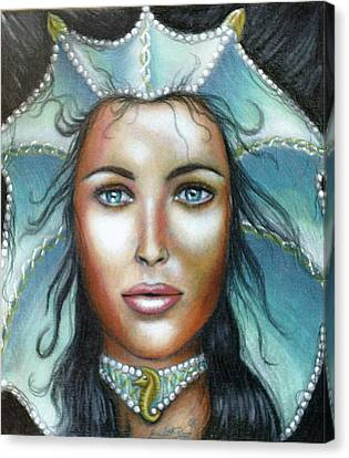 Choker Canvas Print - Lady Of The Sea by Scarlett Royal