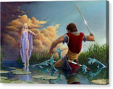 Lady Of The Waters Canvas Print by Richard Hescox