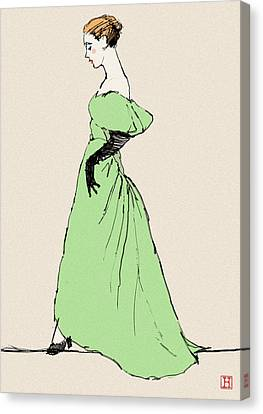 Lady On A Wire Canvas Print by H James Hoff