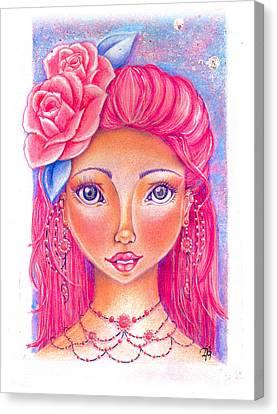 Lady Rose Canvas Print by Delein Padilla