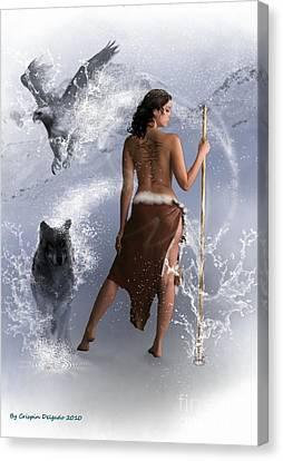 Lady Shaman Canvas Print by Crispin  Delgado