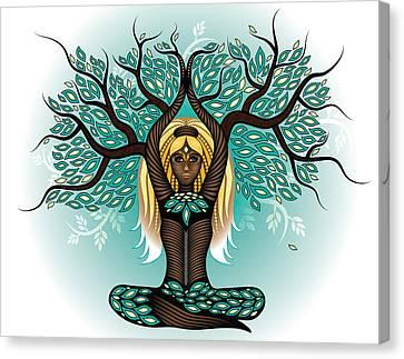 Lady Shaman Tree Canvas Print