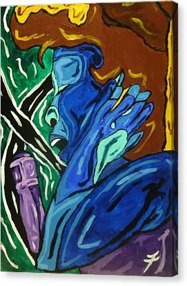 Lady Sing The Blues Canvas Print by Jason JaFleu Fleurant