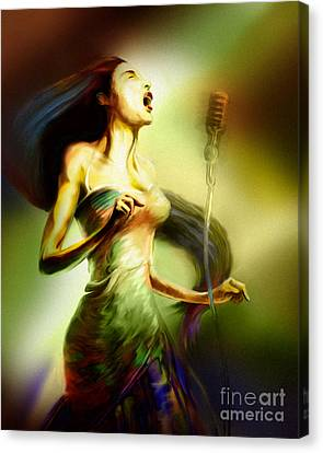 Lady Sings The Blues Canvas Print