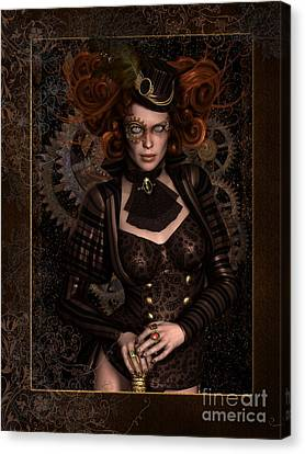 Hairstyle Canvas Print - Lady Steampunk by Shanina Conway
