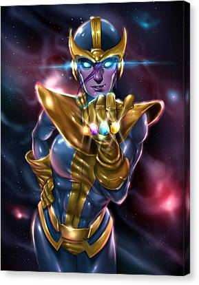 Lady Thanos Canvas Print by Pete Tapang