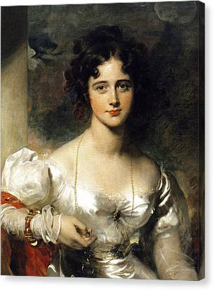 Lady Canvas Print by Thomas Lawrence