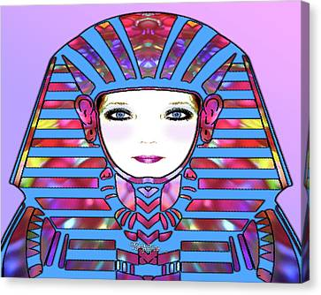 Canvas Print featuring the photograph Lady Tut #191 by Barbara Tristan