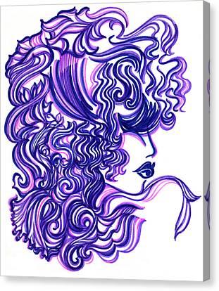 Lady Violet Canvas Print
