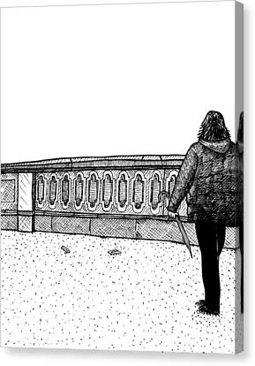 Lady Walking Canvas Print by Karl Addison
