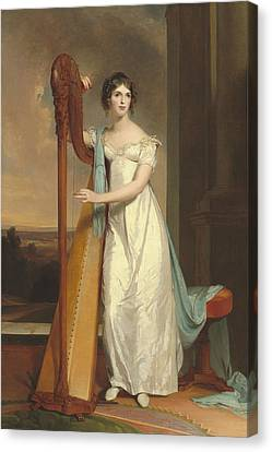 Lady With A Harp Canvas Print