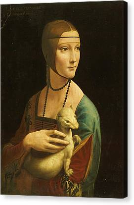 Lady With Ermine Canvas Print by Pg Reproductions