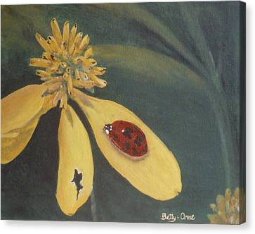 Canvas Print featuring the painting Ladybug by Betty-Anne McDonald