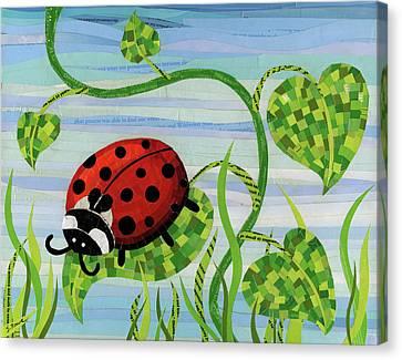 Climbing Canvas Print - Ladybug Mosaic by Shawna Rowe