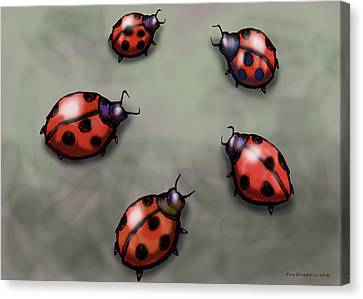 Ladybugs Canvas Print by Kevin Middleton