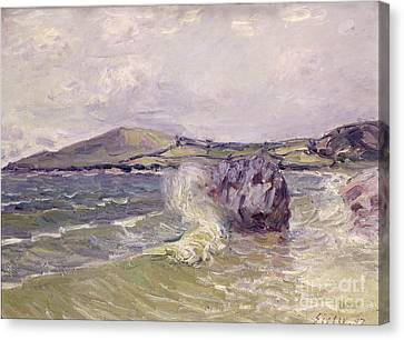 Ladys Cove Wales 1897 Canvas Print by Alfred Sisley