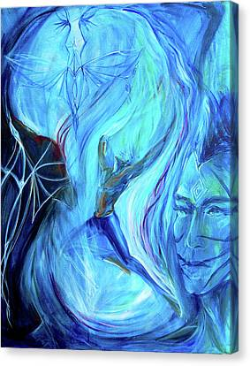 Aquarian Canvas Print - Laeyfe Becomes The Aurora by Jennifer Christenson
