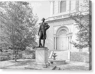 Lafayette College Marquis De Lafayette Statue Canvas Print