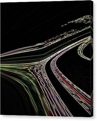Canvas Print featuring the digital art L.a.freeways by Irma BACKELANT GALLERIES