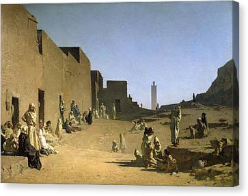 Laghouat In The Algerian Sahara Canvas Print