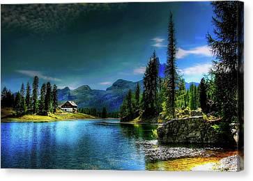 Lago Federa At Dusk Canvas Print