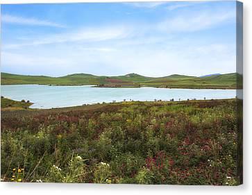 Lago Rubino - Sicily Canvas Print by Joana Kruse
