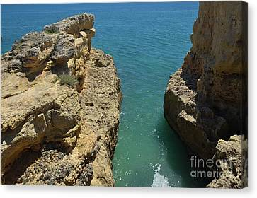 Lagoa Cliffs And Sea View Canvas Print by Angelo DeVal