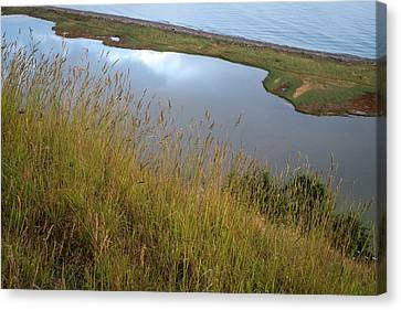 Lagoon At Ebeys Landing Canvas Print by Mary Lee Dereske