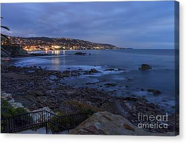 Laguna Beach At Twilight Canvas Print