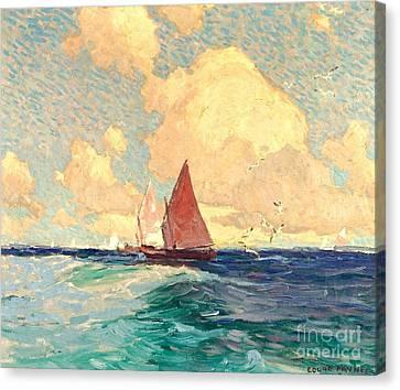 Yachting At Laguna Beach California 1921 Canvas Print