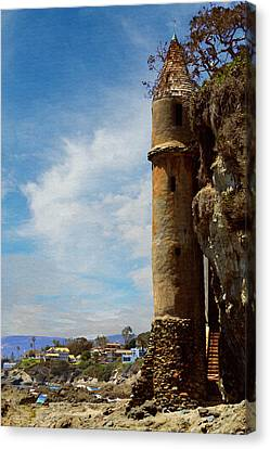 Canvas Print featuring the photograph Laguna Beach Tower by Glenn McCarthy Art and Photography