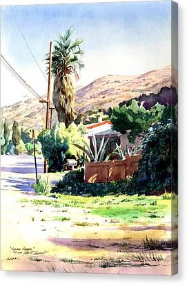 Laguna Canyon Palm Canvas Print by John Norman Stewart