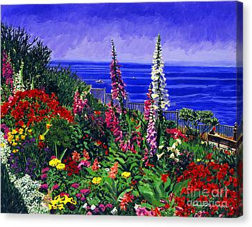 Hollyhock Canvas Print - Laguna Niguel Garden by David Lloyd Glover