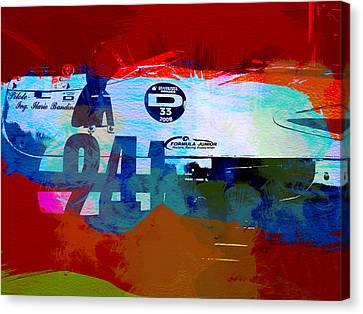 Laguna Seca Racing Cars 1 Canvas Print by Naxart Studio