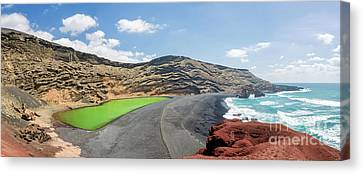 Canvas Print featuring the photograph Laguna Verde by Delphimages Photo Creations