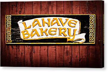 Lahave Bakery Sign Canvas Print by Carolyn Derstine