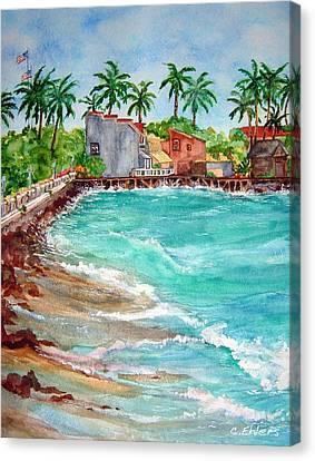 Lahina Bay Maui Canvas Print by Cheryl Ehlers