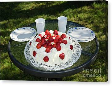 Canvas Print featuring the photograph Laid Summer Table by Kennerth and Birgitta Kullman