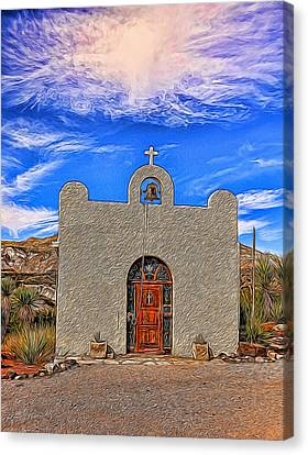 Lajitas Chapel Painted Canvas Print