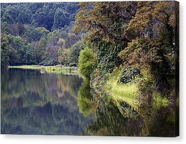 Canvas Print featuring the photograph Lake Abbott Reflections by Alan Raasch