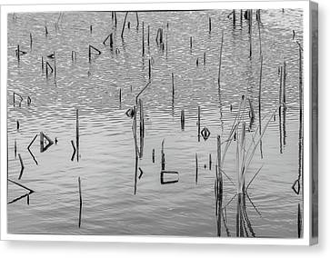 Canvas Print featuring the photograph Lake Abstract by Carolyn Dalessandro