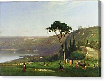 Seaside Heights Canvas Print - Lake Albano 1869 by Maurice Prendergast