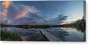 Lake Alvin Supercell Canvas Print by Aaron J Groen
