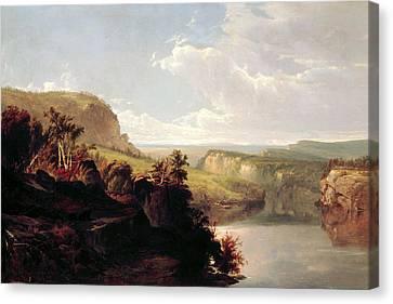 Lake Among The Hills  Canvas Print