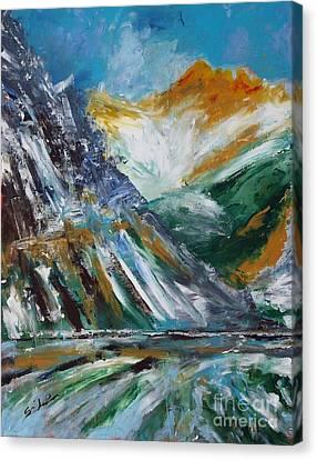 Lake And Alps Canvas Print by Lidija Ivanek - SiLa